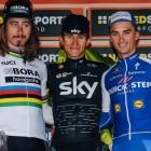 Sagan hace la selección, mantiene el ritmo, y pierde Sanremo al sprint