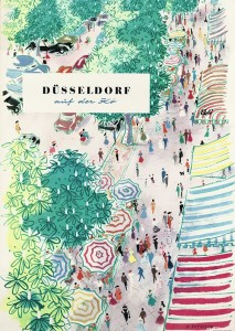 Dusseldorf 1956 tourism poster designed by Harald Gutschow
